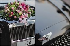The ride at Carmen & Adrian's real wedding, featured in Celebrate's e-magazine and photographed by Plush Photography. #weddings #photography #singapore #table #decor #cars #bentley #purple #flowers