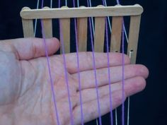 POPSICLE STICK HEDDLE with very good tutorial on how to use it.