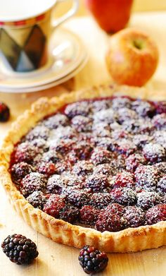 Blackberry tart recipe. You could substitute any summer berry in this tart.