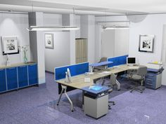 Hints Of Blue   Corporate Office Design