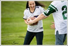Engagement Photos Football