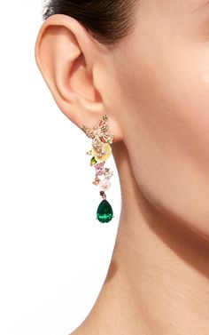 Emerald Vine Earrings by ANABELA CHAN for Preorder on Moda Operandi