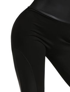 a8ea41ea4 Maternity Styles - skin-tight maternity leggings   J. LOVNY Womens High  Waist Faux Leather Inset Scuba Leggings Made in USA -- See this excellent  product.