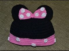 Шапочка микки мауса (beanie Mickey and mini mouse)