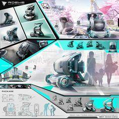 Concept Board Architecture, Architecture Presentation Board, Best Presentation Templates, Presentation Board Design, Robot Concept Art, Photoshop, Transportation Design, Automotive Design, Portfolio Design