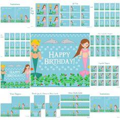 free mermaid birthday party printables