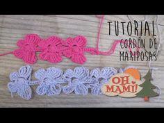 Cordón Mariposa a crochet ( Crochet Butterfly Cord) - YouTube
