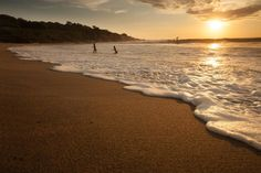 Sunset on the beach of Puerto Escondito in Mexico. Photo by Chris Ford.