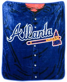 f202a2d4f96 Northwest Company Atlanta Braves Plush Jersey Throw Blanket