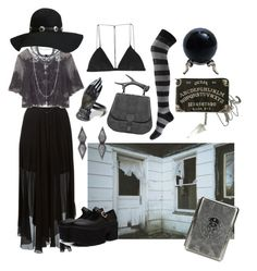 """""""Southern Gothic Witch: Ghost Whisperer"""" by bloodmoonsuccubus on Polyvore featuring Étoile Isabel Marant, Jill Stuart, Fallon, Dion Lee, Forever 21, Natalia Brili and Biarritz"""