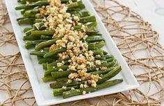 Green Beans with Lemon-Almond Pesto