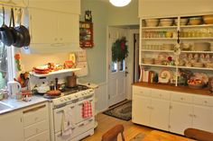 Susan Branch's cozy gingerbread Martha's Vineyard kitchen.