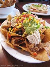 The best nachos ever - and they're meatless!  Native Foods Nachos