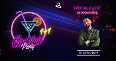 Save the Date. Unser Special Guest DJ Dogus Köse wird bei unserer Cocktail Party am 13. April mit dabei sein.