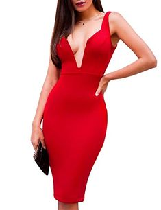 52b9a8329011 Longwu Women's Sexy Bodycon Bandage Midi Dress Long Sleeve 2 Piece Backless  Skirt Party Evening Wear Red Wine-M | Christmas outfit | Pinterest | Dresses,  ...
