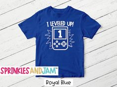Birthday Archives - Sprinkles And Jam Family Birthday Shirts, 1st Boy Birthday, Level Up, Shirts For Girls, Special Day, Mens Tops, Kids, Collection, Boy First Birthday