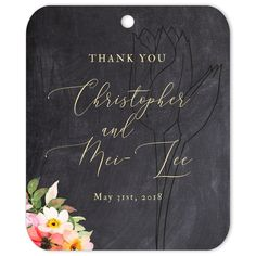 The Tulips Thank You gift tag is the perfect favor decoration or gift tag for weddings and engagements. Wedding Gift Tags, Wedding Favours, Diy Wedding, Thank You Tags, Thank You Gifts, Wedding Stickers, Spring Wedding, Elegant Wedding, Event Planning