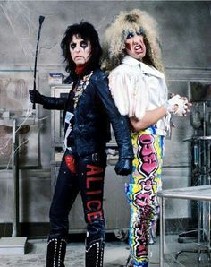 Alice Cooper and Dee Snider (The Twisted Sister). 80s Hair Metal, Hair Metal Bands, 80s Hair Bands, Alice Cooper, Historia Do Rock, Rock Y Metal, Jazz, Glam Metal, Heavy Metal Music