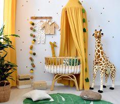 Baby Bedroom, Baby Boy Rooms, Nursery Room, Kids Bedroom, Baby Bedding, Girl Nursery, Yellow Nursery Decor, Baby Room Decor, Yellow Kids Rooms