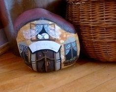 Stonehome+na+přání+malba+akrylem+na+kameni+,+lakováno+cca+6,5+kg+cca+27+x+20+cm
