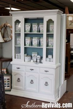 Southern Revivals - this blog shows you how to revive old furniture. I want to do this (basically) to the buffet/hutch I have in our dining room.