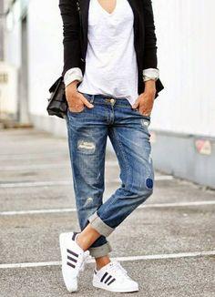 Sneakers Frühlingsoutfit