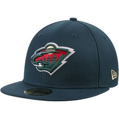 Men's New Era Green Minnesota Wild Team Color 59FIFTY Fitted Hat