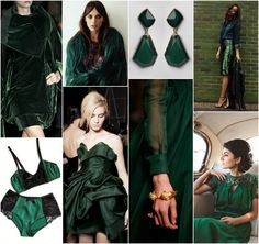 """Polish blogger Maria analyses shades of green right for each season type: BOTTLE GREEN. """"For Deep Winter, True Winter, Deep Autumn, True Autumn, True Summer. Perhaps for Cool Winter."""""""