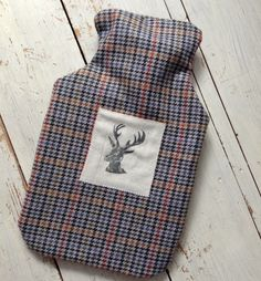 Hand printed Stag Hot water Bottle Cover £30.00