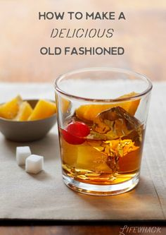 The best Old Fashioned cocktail recipe is the simplest. Here's how to whip up one of these delightful cocktails at home. Just like Don Draper. Bourbon Cocktails, Whiskey Cocktails, Cocktail Drinks, Cocktail Recipes, Cocktail Videos, Manly Cocktails, Bourbon Mixed Drinks, Bourbon Liquor, Fancy Drinks