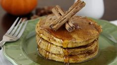 Canned pumpkin, allspice and cinnamon bring the flavor of fall to the breakfast table in our pumpkin pie pancakes that are ready in just 15 minutes.