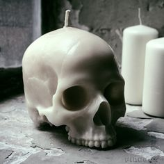 Skull Candle - £29.99  http://www.firebox.com/product/6745/Skull-Candle?via=whatsnew