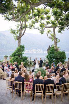 Romantic Destination Wedding in Lake Como. Italy Destination Wedding at Lake Como. Tuscany wedding i Wedding Venues Italy, Italy Wedding, Wedding Locations, Weddings In Italy, Ceremony Seating, Wedding Ceremony, Wedding Decor, Wedding Signs, Wedding Table