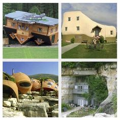 Would you live in any of these homes?  Check out the 20 different outlandish structures displaying architectural humor and prankishness.