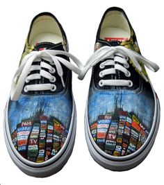 Radiohead album cover shoes. Oh. my. god. WANT.