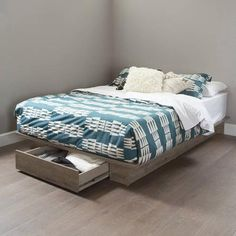 South Shore Holland Full/Queen Platform Bed with Drawer, Multiple Finishes - Walmart.com