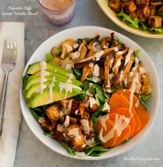 Chipotle Maple Sweet Potato Tofu Bowl | #tofu #chipotle #food #recipe #maple #potato #sweetpotato #dinner #foodporn
