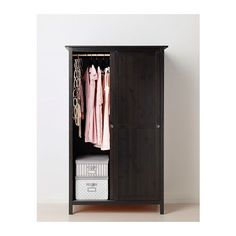 HEMNES Wardrobe with 2 sliding doors - black-brown - IKEA, but  Solid Wood, could be changed to hinged doors?!?
