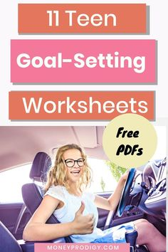 Free teenage goal setting worksheets PDFs to help your teenager write down, prioritize, and figure out action steps to take to reach their goal. Social Career, School Social Work, Social Skills, Life Skills Lessons, Life Skills Activities, Coping Skills, Growth Mindset Activities, Goal Setting Worksheet, Parenting Teenagers