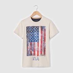 T-shirt imprimé drapeau américain 10-16 ans R teens - Garçon