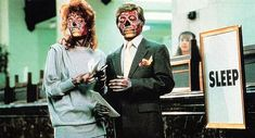 In John Carpenter made They Live, an over-the-top science fiction movie set in a world which has been quietly invaded and conquered by an insidious alien Top Science Fiction Movies, Sci Fi Movies, Horror Movies, Movie Tv, They Live Movie, Dystopian Films, Louise Brealey, Roddy Piper, Vince Mcmahon