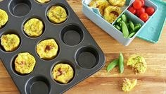 Omelettmuffins Egg Dish, Frisk, Cottage Cheese, Pavlova, Chorizo, Tapas, Bacon, Lunch, Dishes