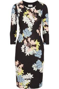 Erdem Allegra floral-print stretch-cotton jersey dress | NET-A-PORTER