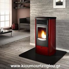 The Piazzetta Monia is one of the most efficient and quiet pellet stoves available making it the perfect addition for any home looking to install Pellet Heater, Rocket Heater, Wood Pellet Stoves, Pellet Stove Inserts, Wood Burning Heaters, Wood Pellets, Radiant Heat, Grey Wood, Wood Storage