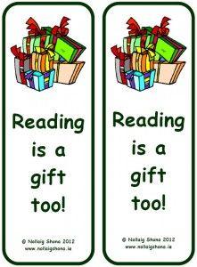 Bookmark 10: ¡La lectura también es un regalo! Marcapáginas navideño