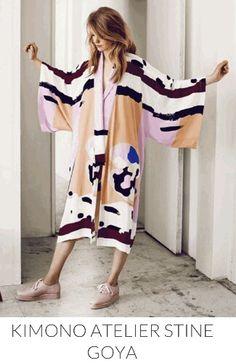 Stine Goya kimono Bold Fashion, Fashion Prints, Fashion Show, Womens Fashion, Fashion Design, Mode Kimono, Kimono Top, You Look Stunning, Bohemian Look
