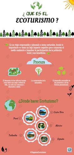 El Ecoturismo protege el medio ambiente mientras que ayuda que la comunidad se desarrolle en una manera sostenible.   #HagamosEcoturismo