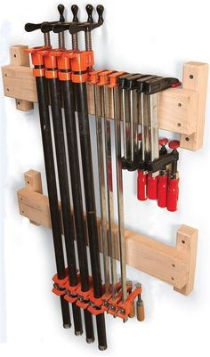 7 Classic Ways to Store Clamps - The Woodworker's Shop - American Woodworker #WoodworkingTips #WoodworkingIdeas