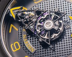 """Ulysse Nardin FreakWing Artemis Racing Limited Edition Watch Hands-On - by Ariel Adams - Get a better look now at: aBlogtowatch.com """"At Baselworld 2016, Ulysse Nardin predictably introduced a couple of new limited edition Freak watches. This one is perhaps one of our favorite Freak watches of all time, and it is the 35-piece set Ulysse Nardin FreakWing Artemis Racing Limited Edition in cool black and yellow 'bumblebee' tones. Not personally being too connected to the world of boat racing..."""""""