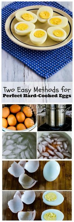 Here are Two Easy Methods for Perfect Hard-Cooked Eggs (and Recipe Ideas Using Hard-Boiled Eggs). PIN NOW so you'll have it for Easter! [found on KalynsKitchen.com]